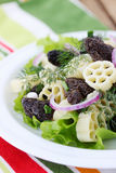 Cold appetizer with morels Royalty Free Stock Photography
