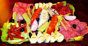 Cold appetizers Stock Images