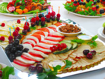 Cold appetizers Royalty Free Stock Photo