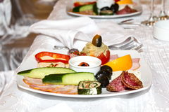 Cold appetizers Royalty Free Stock Photography