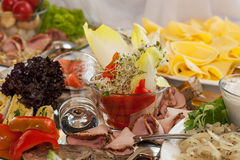 Cold appetizers on a table Royalty Free Stock Images