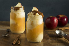 Cold Apple Cider Ice Cream Float Stock Photo