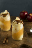 Cold Apple Cider Ice Cream Float Stock Image