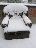 Cold Armchair. An armchair covered in snow Stock Photography