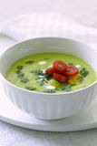 Cold avocado soup Stock Photos