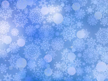 Cold background with snowflakes. EPS 8 Stock Photos