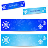 Cold banner Stock Image