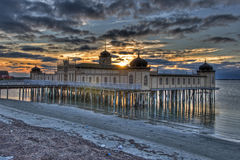 Cold bath house in Varberg city in HDR Royalty Free Stock Photos