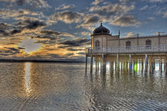 Cold bath house in Varberg city in HDR Royalty Free Stock Photo