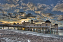 Cold bath house in Varberg city in HDR Stock Image