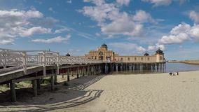 Cold bathhouse in Varberg stock footage