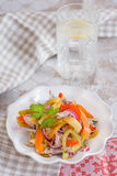 Cold beef salad with pickled peppers Royalty Free Stock Images