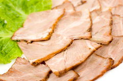Cold beef snack, macro Royalty Free Stock Photos