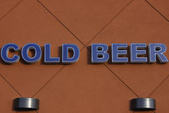Cold Beer. Above the beer store just loved it Royalty Free Stock Image