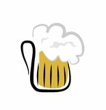 Cold beer as refreshment. Big cold beer in glass pinta Stock Photos