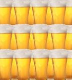 Cold beer background. Abstract background with glasses of beer in closeup Stock Images