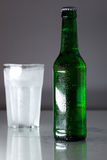 Cold beer bottle Stock Photo