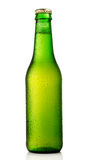 Cold beer bottle Stock Photos