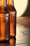 Cold beer bottles. Fresh beer bottles concept. Royalty Free Stock Photography