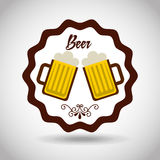 Cold beer design Royalty Free Stock Images