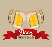 Cold beer design Royalty Free Stock Photos
