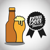 Cold beer design Royalty Free Stock Image