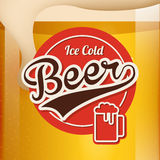Cold beer design Stock Images