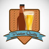Cold beer design Stock Photography