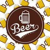 Cold beer design Stock Photos