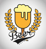 Cold beer design Stock Image
