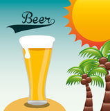 Cold beer. Design, vector illustration eps10 graphic Royalty Free Stock Images