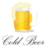 Cold Beer Glass background Royalty Free Stock Image