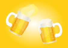 Cold Beer Glass cheers background Stock Photos