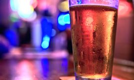 Cold beer glass royalty free stock photography