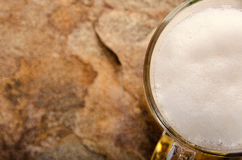 Cold beer in glass. Fresh beer concept. Royalty Free Stock Photo