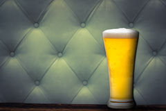 Cold Beer on glass Royalty Free Stock Image
