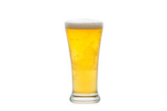 Cold Beer on glass Stock Photo