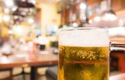 Cold Beer Jug in izakaya japanese bar Royalty Free Stock Image