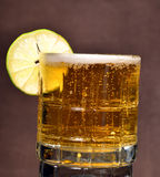 Cold beer and lime Stock Images