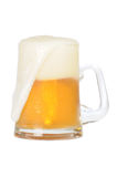 Cold beer mug. On white background with path Stock Images