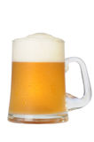 Cold beer mug. On white background with path Royalty Free Stock Images