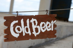 Cold Beer sign Stock Photography