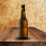 Cold beer on wood table Royalty Free Stock Image