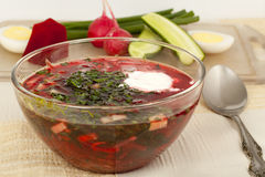 Cold beet soup Royalty Free Stock Image