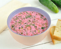 Cold Beet Soup Stock Photos