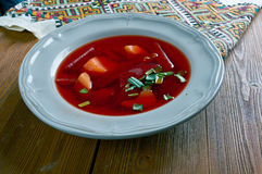 Cold beet soup Stock Image