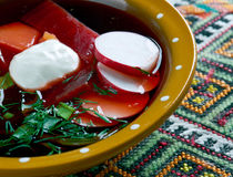 Cold beet soup Royalty Free Stock Photos