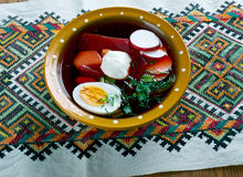 Cold beet soup Royalty Free Stock Photography