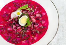 Cold beetroot soup Stock Photo