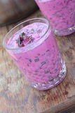 Cold beetroot soup. Royalty Free Stock Images
